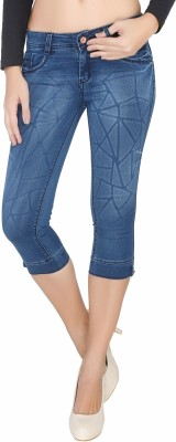 Bat Comfortable Women,s Light Blue Capri