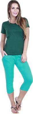 Eshelle Fashion Women,s Light Green Capri