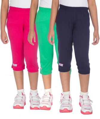 Ocean Race stylish Girl's Pink, Green, Dark Blue Capri
