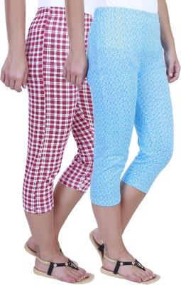 Eshelle Fashion Women,s Pink, White, Blue Capri