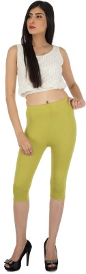 Legrisa Fashion Women's Light Green Capri
