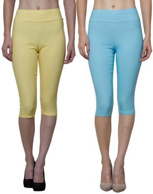 Both11 Women's Blue, Yellow Capri