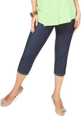Nine Maternity Wear Capri Women's Blue Capri at flipkart