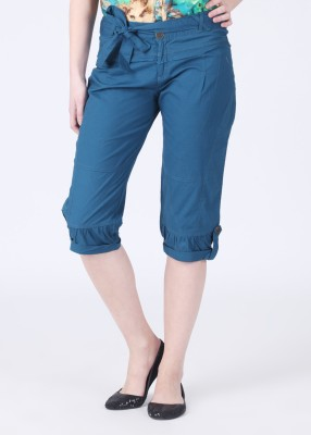 Remanika Women's Blue Capri