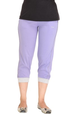 Colors & Blends Cl-101 L. Purple Women's Purple Capri at flipkart