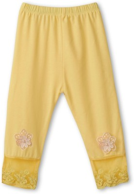 Icable Girl's Yellow Capri