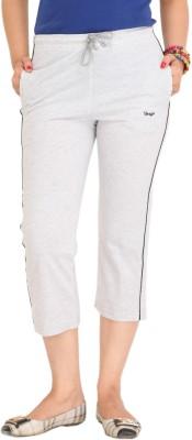 Colors & Blends Cl-102 Melange Grey Women's Grey Capri at flipkart