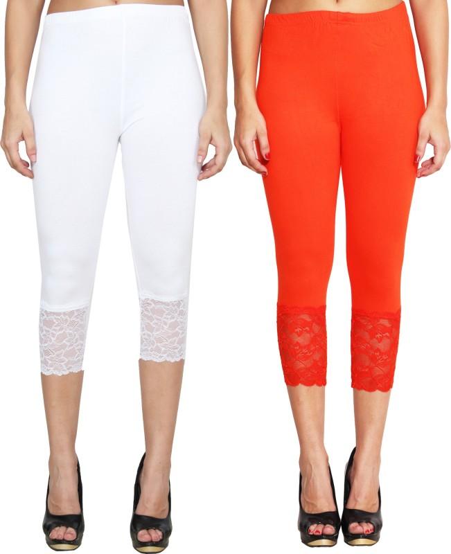 LGC Women's White, Orange Capri