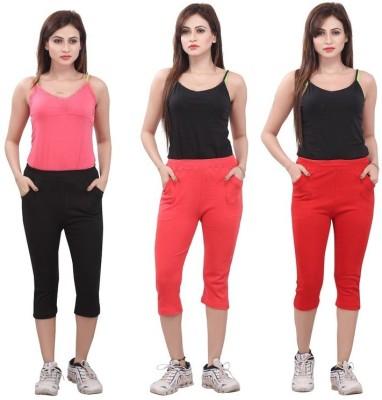 Bfly Women's Black, Pink, Red Capri