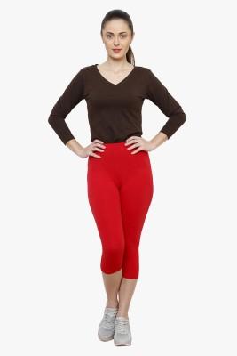 Softrose Women's Red Capri