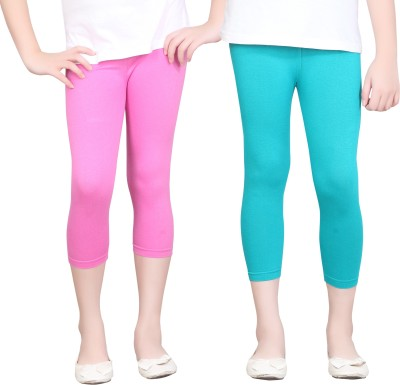Sini Mini Girls Pink, Light Blue Capri