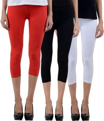 NumBrave Comfort Fit Cotton Combo Women's Multicolor Capri