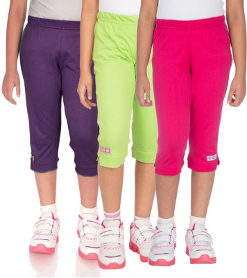 Ocean Race stylish Girl's Pink, Green, Purple Capri