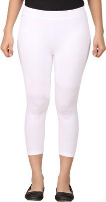 TECOT Women's White Capri