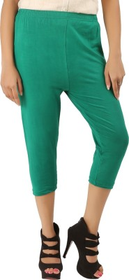 CURVIVA Women's Green Capri