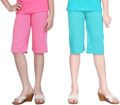 Sinimini Pro Girl's Pink, Light Blue Capri