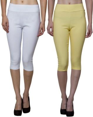 Both11 Women's Yellow, White Capri