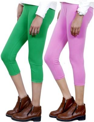 IndiStar Women's Green, Pink Capri