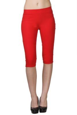 Vostro Moda Women's Red Capri