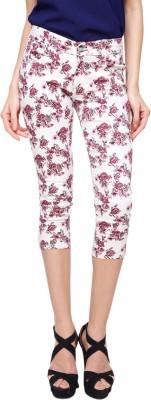 Yepme Women's White, Pink Capri