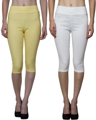 Both11 Women's Beige, Yellow Capri