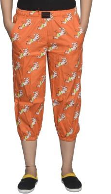 Flamboyant Fashion Women's Orange Capri