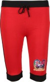 Harsha Capri For Girls Solid Cotton (Red...