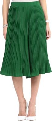 Uptownie Lite Pleat Me Right Culottes Women's Dark Green Capri
