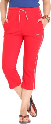 Colors & Blends Cl-102 Red Women's Red Capri at flipkart