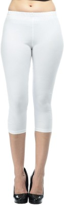 Frenchtrendz Fashion Women,s White Capri