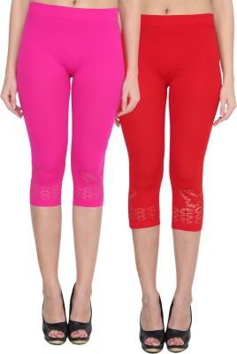 NumBrave Women's Pink, Red Capri