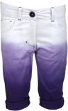 UFO Capri For Girls Solid (Purple)