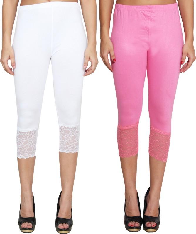LGC Women's White, Pink Capri