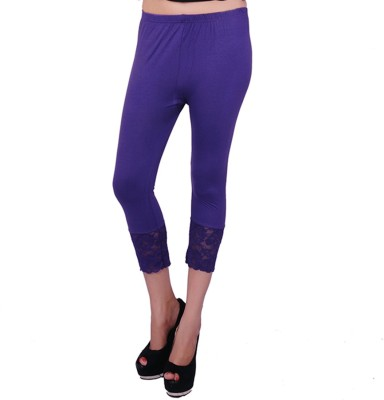 UrSense Fashion Women's Purple Capri