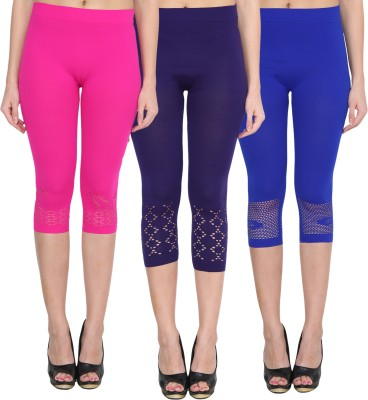 NumBrave Women's Pink, Blue, Blue Capri
