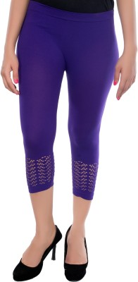 Feminine Women's Purple Capri