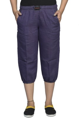 Flamboyant Fashion Women's Purple Capri