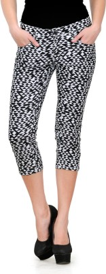Fashion Cult Women's Black Capri at flipkart