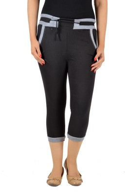 Mijaaz Fashion Women's Black Capri