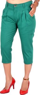 Indiegirl Women's Green Capri