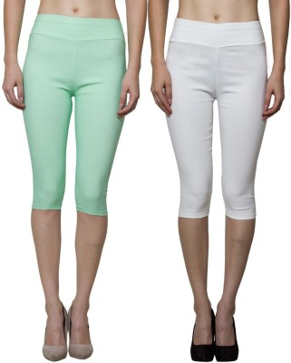 Both11 Women's Beige, Green Capri