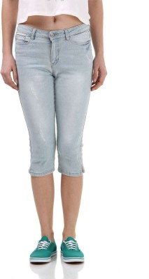 Vero Moda Women's Denim Capri at flipkart