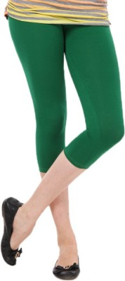Femmora Chic Women's Dark Green Capri