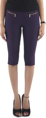 Vostro Moda Women's Purple Capri