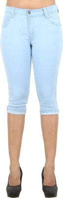 Ebony Women's Light Blue Capri