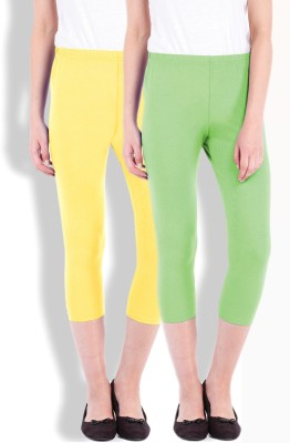 Beyouty Women's Green, Yellow Capri