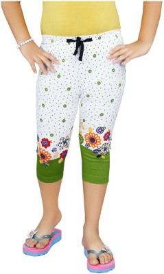 Mint Light Green Cotton Jeggings-16 Baby Girl's Light Green Capri