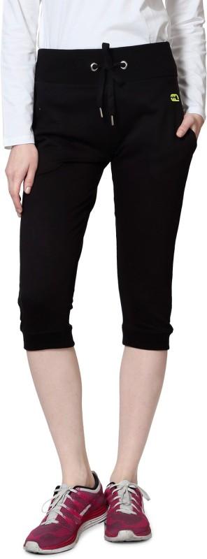 Ajile by Pantaloons Women's Black Capri