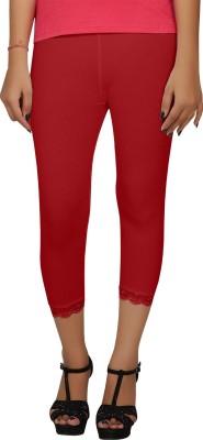 Hbhwear Women's Red Capri