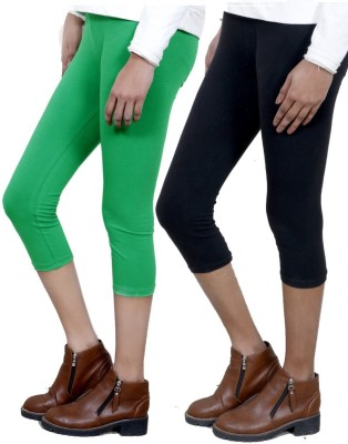 IndiStar Women's Green, Black Capri